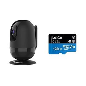 Camera IP Wifi VStarcam C48s 2.0 - Full HD 1080p , Lắp trong nhà , camera không dây , Kèm thẻ nhớ 128GB A1 Lexar  - Hàng chính hãng