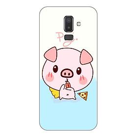 Ốp lưng dẻo cho Samsung Galaxy J8_Pig 03