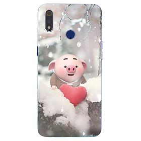 Ốp điện thoại dành cho máy Oppo Realme 3 - Trái tim của lợn con MS FUNN0026