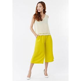 Set áo oversize 2 lớp vàng + quần culottes công sở trẻ trung