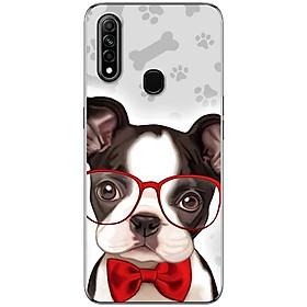 Ốp lưng dành cho Oppo A31 (2020) mẫu Chó mắt kính