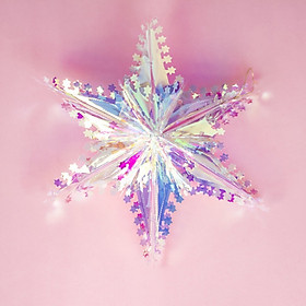 Christmas Hanging Decorations Christmas Tree Five-pointed Star Plastic Mini Decorations Lightweight Festival Cute for Home Decor