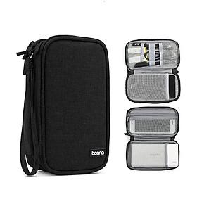 Túi hai ngăn đựng điện thoại và pin sạc dự phòng 20.000 mAh, cáp sạc, tai nghe Baona E001 - Hàng nhập khẩu