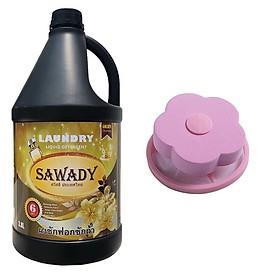 Nuớc giặt xả 6 in 1 Sawady Hando 3,8L + Tặng 1 phao lọc cặn máy giặt (Màu ngẫu nhiên