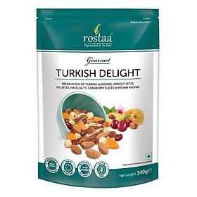 Turkish Delight  340G - Hỗn hợp hạnh nhân, quả mơ Thổ Nhĩ Kỳ và quả sung mỹ, quả phỉ, nho khô và quả nam việt quất - Ngũ cốc giảm cân - mix nuts - Ngũ cốc hoa quả trái cây nhập khẩu