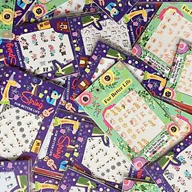 2 hộp miếng dán móng tay sticker ngỗ nghĩnh đẹp - Gửi mẫu ngẫu nhiên