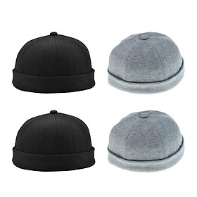 4x Novelty Men Women Vintage Rolled Fisherman Cap Skull Cosplay Dance Hats