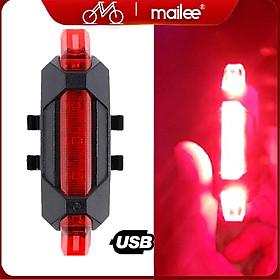 Đèn Hậu Phía Sau Cảnh báo an toàn Đuôi Xe Đạp DC918 Sạc USB Có Thể Sạc Lại MaiLee