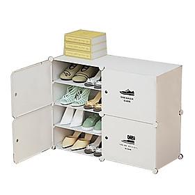 Tủ Giày Dép Nhựa Ghép,Tủ Giày,Tủ Nhựa Đựng Giày Đa Năng 8 Ô Vuông Loại Mới