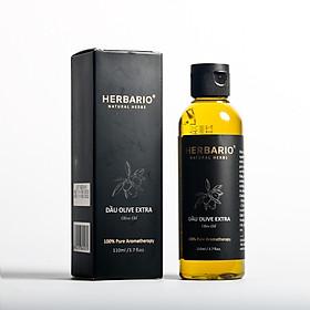 Dầu oliu (olive) Extra nguyên chất herbario 110ml ép lạnh tự nhiên giàu vitamin và dưỡng chất chống oxi hóa cho da và tóc.
