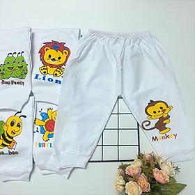 Combo 10 quần dài sơ sinh trắng cotton 100%, chất vải dày dặn, mềm mịn, đẹp cho bé trai, bé gái