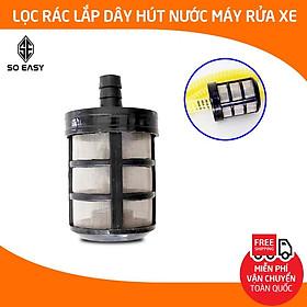 Lọc rác máy bơm nước áp lực, đầu lọc rác lắp dây hút nước máy rửa xe gia đình bảo vệ tránh gây tắt nghẽn C0004-8