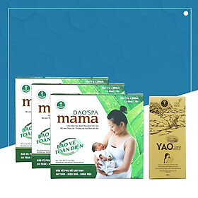 Combo 3 hộp xông tắm sau sinh Dao'spa mama và 1 hộp xông ngâm vùng kín Yaocare mama - DK Pharma