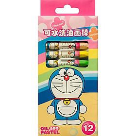 Bút Sáp Dầu Doraemon 1712 - 12 Màu  - Mẫu Ngẫu Nhiên