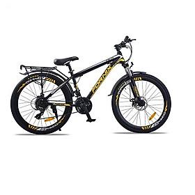 Xe đạp địa hinh thể thao Fornix FM26, màu Đen vàng