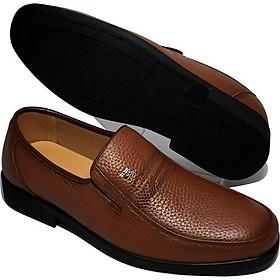 Giày tây nam da bò thật, đế cao su ép nhiệt chắc chắn, đế khâu tỉ mỉ - HSM640