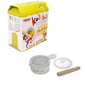 Bộ dụng cụ chế biến thức ăn đa năng Farlin - Tặng 01 chén sứ ăn dặm cho bé