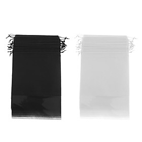 Pack of 24 Men Women Non-Woven Portable Drawstring Shoe Bags Pouch Organizer