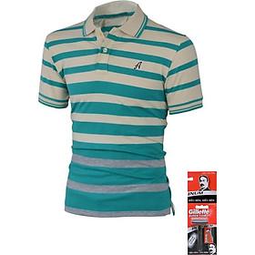 áo thun nam có cổ polo ngắn tay đẹp thun cotton mịn thiết kế áo đơn giản và thêu logo chữ A đặc biệt phù hợp 50-83kg nhiều màu TDTATCS3070