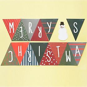 Dây cờ trang trí Noel Merry Christmas