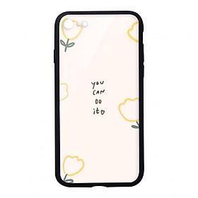Ốp lưng KÍNH CƯỜNG LỰC VIỀN ĐEN cho iPhone 8 YOU CAN DO IT - Hàng chính hãng