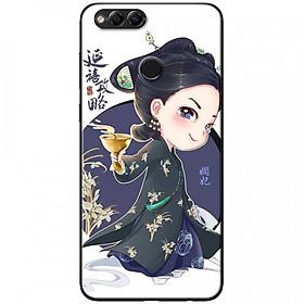 Ốp lưng dành cho Honor 7X mẫu Cô gái Trung Hoa chibi