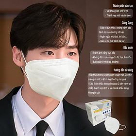 Hộp 10 Cái Khẩu Trang VNN95 PT Mask, 5 Lớp, kháng Khuẩn, Chống Bụi Siêu Mịn PM2.5, Màu Trắng - Đạt Các Chứng Chỉ ISO 13485, ISO 9001, CE, FDA, TGA.