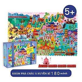 Bộ xếp hình vali 180 mảnh Du Lịch Muôn Nơi chính hãng Mideer Travel Around The World có 4 mẫu cho bé lựa chọn