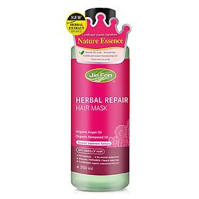 Kem dinh dưỡng ủ tóc bóng mềm dưỡng ẩm phục hồi tóc hư tổn Jie Fen Hair Conditioner-Herbal Repair Hair Mask, ĐL 250 ml