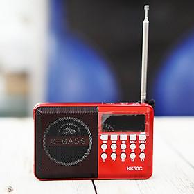 Đài FM Nghe Nhạc Cắm USB, Thẻ Nhớ Dành Cho Người Già (Tặng tai nghe Sendem V5)