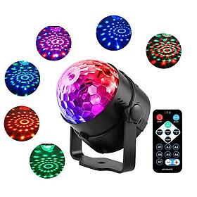 Đèn LED 7 màu vũ trường cảm ứng nhạc, xoay 7 màu sân khấu chớp theo nhạc, nháy theo nhạc, chớp 7 màu