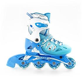 Giày Patin Cougar 703  hàng chính hãng  thiết kế bắt mắt nhưng vẫn mang lại đôi giày có đầy đủ tính năng phù hợp với những bạn bắt đầu tập chơi với bộ môn patin phù hợp với các bé từ 3 tuổi đến 14 tuổi là trò chơi lành mạnh giúp bé rèn luyện tăng cường sức khoẻ tốt hơn