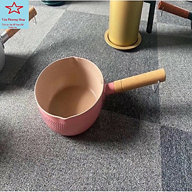 Chảo / Nồi / Quánh Sâu Lòng 18cm Phủ Ceramic Chiên, Xào, Nấu Chống Dính Vân Tổ Ong, Dùng Cho Mọi Loại Bếp