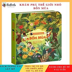 Sách - Khám phá thế giới nhỏ Bốn Mùa- Sách 2D tương tác lật mở cho trẻ (0 - 12 tuổi)- NXB Lao Động