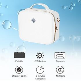 Portable UV Light Beauty Tool Sterilizer Bag UVC USB Multifunctional Travel Bag Ultraviolet Light Disinfection Bag