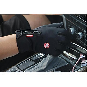 Găng tay chống nắng cảm ứng điện thoại cho dân phượt nam GT01 (màu đen)