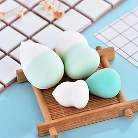 4 Pcs Makeup Sponge Professional Beauty Puff Liquid Cream Smooth Cosmetic Puff Gourd Shape+Waterdrop Shape