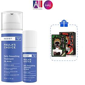 Kem làm mềm da tẩy da chết 5% AHA Paula's Choice resist daily smoothing treatment TẶNG mặt nạ Sexylook (Nhập khẩu)