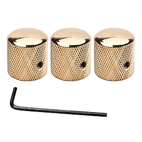 3 Pieces Guitar Volume Tone Control Knobs With Wrench Guitar Replacement Accs