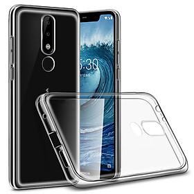 Ốp lưng dẻo dành cho Samsung Galaxy Nokia 5.1 Plus / Nokia X5 Ultra Thin (mỏng 0.6mm, chống trầy xước, ôm sát máy, Trong suốt) - Hàng chính hãng