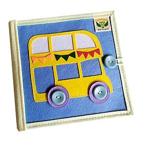 Sách vải giáo dục xuất khẩu LÀ LÁ LA SỐ 3 - Sách tương tác vừa học vừa chơi - dành cho bé 1-6 tuổi