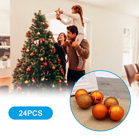 Christmas Matte/ Shining/ Painted Hanging Ball 3cm 24PCS for Xmas Ornaments Christmas Tree Decoration Deco Home Party