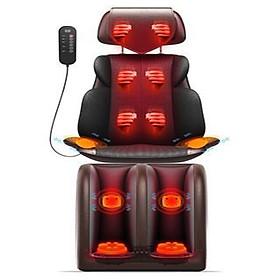 Ghế massage toàn thân full cả chân - Máy massage vải, cổ, gáy, lưng, chân có hồng ngoại RKTA-119