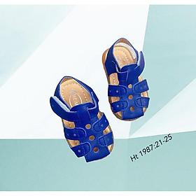 Giày Tập Đi Cho Bé - Dép Sandal Quai Hậu Bé Trai Bé Gái Kiểu Rọ Da Mềm Đế Chống Trơn Trượt