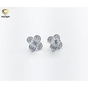 Bông tai bạc Ý 925 Huệ Ngân - Hoa đá đẹp RYE140941