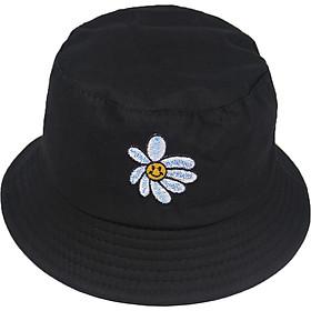 Mũ Nón Bucket Tai Bèo Nam Nữ In Hình Hoa Cúc Cười Phong Cách Thời Trang Cực Hot