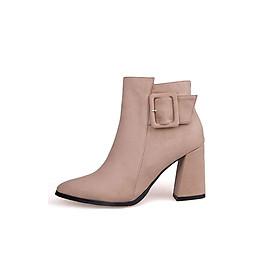 Giày Boot nữ đế vuông B093N