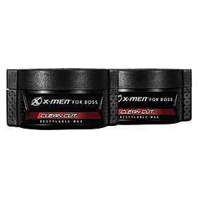 Combo 2 Sáp vuốt tóc X-men for Boss Wax Clean Cut 70g