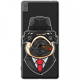 Hình đại diện sản phẩm Ốp lưng dành cho Sony Xperia XA Ultra mẫu Chó mặt xệ ngậm thuốc