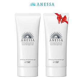 Kem chống nắng dưỡng trắng dạng gel Anessa Whitening UV Sunscreen Gel 90g - Mua 1 tặng 1